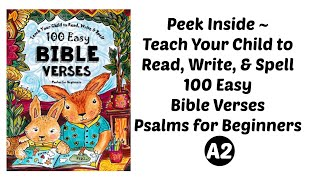 Updated!  Teach Your Child to Reasd, Write, & Spell~100 East Bible Verses by The Thinking Tree