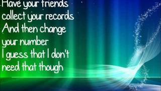 Somebody That I Used to Know - Christina Grimmie (Lyrics, HD)