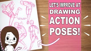 Lets Improve At Drawing Action Poses! | Learn With Me Sketchbook Session | Gesture Drawing