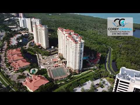 Pelican Bay Cap Ferrat Naples Florida 360 degree video fly over
