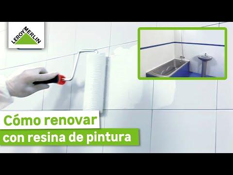 Renovar paredes, suelos, encimeras y muebles con resina de pintura (Leroy Merlin)