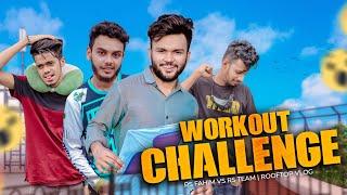 Workout Challenge   Rs Fahim Vs Rs Team   Rooftop Vlog   DJI FPV