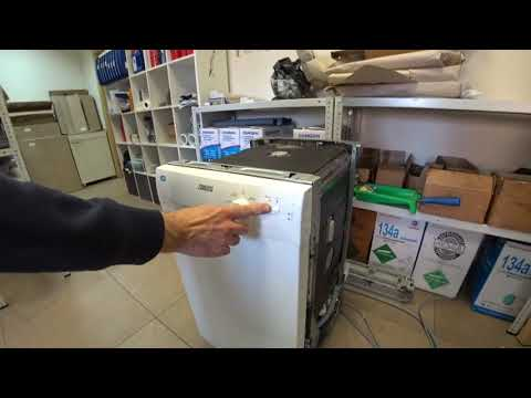 Сервисый тест посудомоечной машины Zanussi Коды ошибок