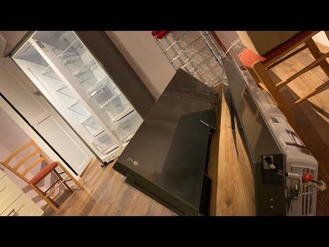 Gefrierschrank Tür und Kühlschranktür Demontage LG GSL361ICEZ Side by Side Kühlschrank Anleitung
