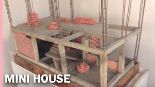 BRICKLAYING  MINI HOUSE  FOUNDATION    MODEL    CASA EN MAMPOSTERÍA