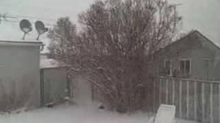 4/19/08 Snow In Backyard of Anaconda, MT
