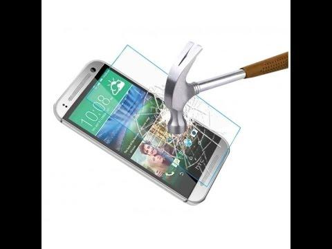 Наклейка защитного стекла на телефон