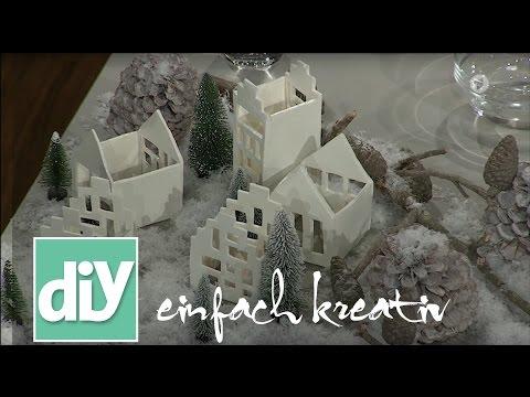 Lichthäuser aus Modelliermasse | DIY einfach kreativ