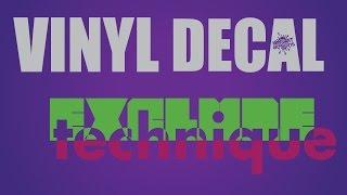 VINYL DECAL DESIGN - EXCLUDE EFFECT