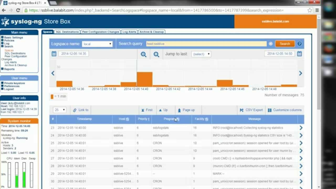 Introduction of syslog-ng Store Box Live Demo