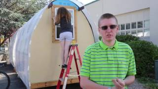 School project builds Conestoga huts for Boise homeless
