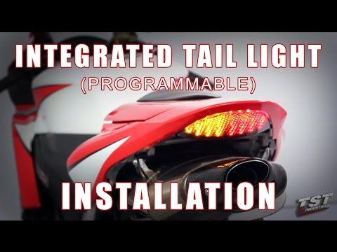 How to install Integrated Tail light on a 07-12 Honda CBR600RR by TST Industries