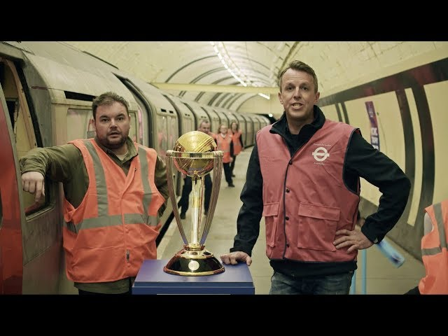 The Cricket World Cup goes underground in a disused Tube station!