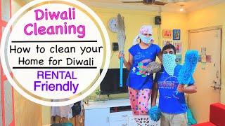 How to Deep Clean your Home for Diwali | Rental Friendly | Diwali Cleaning tips | #DiwalikiSafai