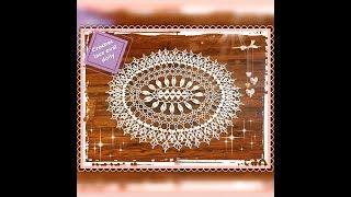 How To Crochet Lace Oval Doily Part 1 Of 2 #Joanna Stawniak, #doily, #  Crochet,