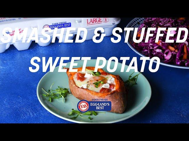 Smashed & Stuffed Sweet Potato
