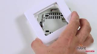 Разборка, монтаж терморегулятора  RAYCHEM SENZ WIFI