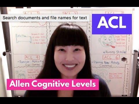 Allen Cognitive Levels (ACL)
