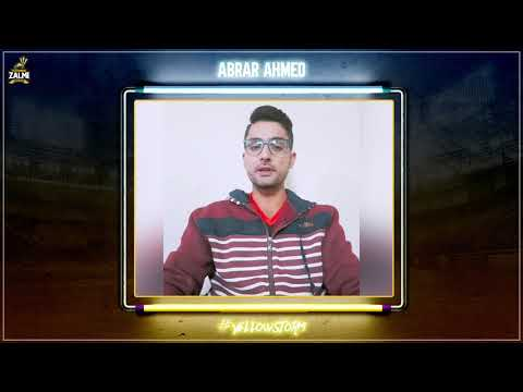 Abrar Ahmed | New Signing | Message for Fans