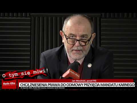 Wideo1: Chcą zniesienia prawa do odmowy przyjęcia mandatu karnego - rozmowa z posłem Janem Mosińskim