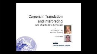 Careers in Translation and Interpreting