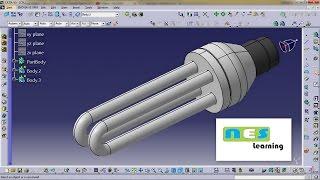CATIA V5/V6 Tutorial | BULD CFC (VERY VERY EASY TO DESIGN)