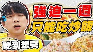 強迫哲哲一週只能吃炒飯,竟然吃到網稱台灣第一的炒飯【黃氏兄弟】#一週挑戰系列