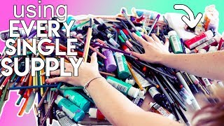 Using EVERY SINGLE ART SUPPLY I Own!