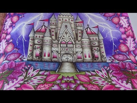 Enchanted Castle Tutorial 3 Mein Zauberwald Forest Johanna Basford Prismacolor Play