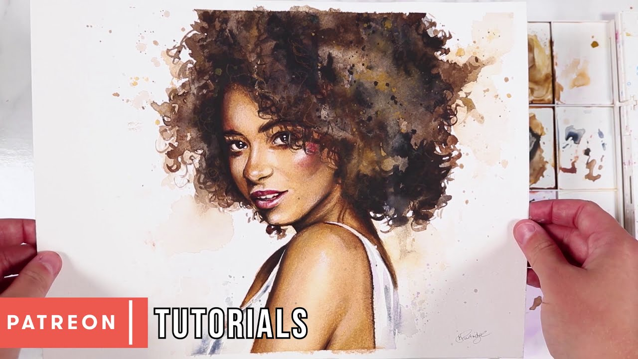 10 tips for water color portraits by kirsty partridge