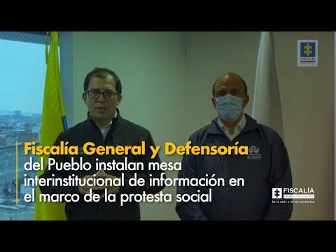Fiscal Barbosa: Fiscalía y Defensoría instalan mesa interinstitucional en marco de protesta
