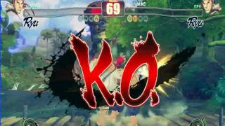 sfiv ryu vs ryu and finisher by ken with music Exile the next door featuring t pain