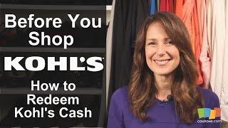 Kohl's: How to Redeem Kohl's Cash