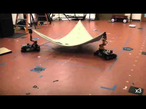 Collaborative multi-robot manipulation of deformable objects in dynamic environments