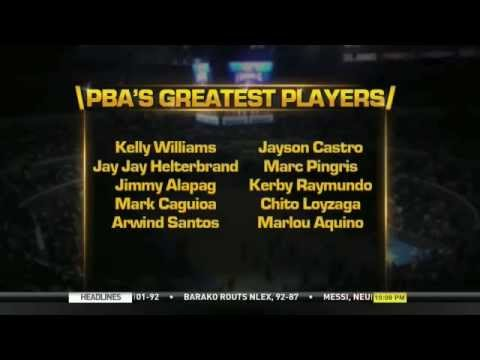 PBA selects 40 Greatest Players