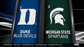 Duke Vs. Michigan State - Men's Basketball Highlights
