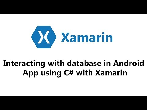 SQLite Example — Xamarin Community Forums