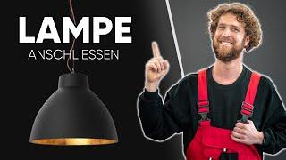 LAMPE ANSCHLIESSEN - Deckenleuchte richtig verkabeln und Montage Tipps