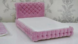 Смотреть онлайн Как сшить кровать для куклы Барби своими руками