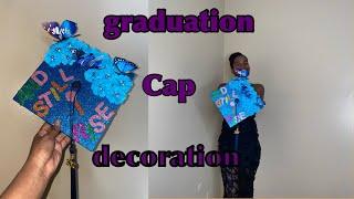 DIY Graduation Decoration Cap Butterfly 🦋 👩🏾🎓