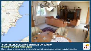 preview picture of video '3 dormitorios 2 baños Vivienda de pueblo se Vende en Country House, Catral, Alicante, Spain'