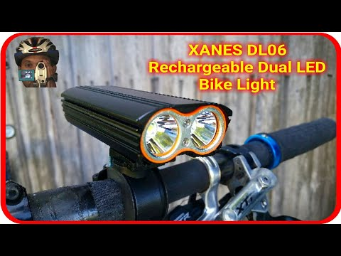 USB RECHARGEABLE CREE XML T6 DUAL LED BIKE LIGHT - XANES DL06 REVIEW