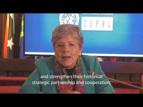 Saludo CEPAL - Alicia Barcena Secretaria Ejecutiva
