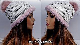 How To Crochet - An Easy Beanie | Powder Puff Beanie | Bag-O-Day Crochet Tutorial #562