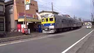 (熊本電鉄)藤崎宮前駅~黒髪駅の併用軌道区間 (その2)