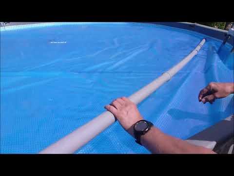 Pool Solarfolie aufwickeln ganz einfach, Solarplane, Intex, Bestway, solar plane