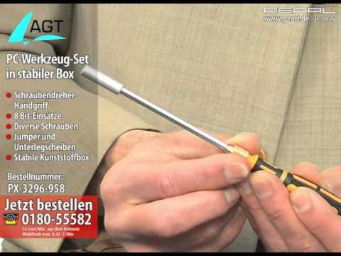 AGT PC-Werkzeug-Set in stabiler Box