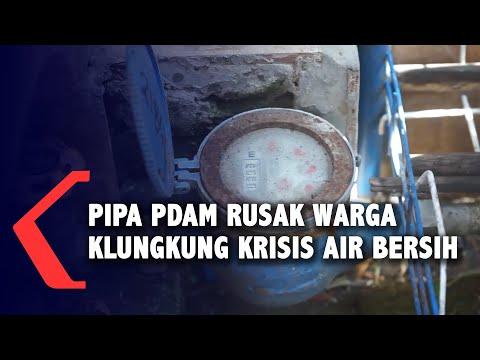 pipa pdam bocor dan keropos warga di klungkung krisis air bersih