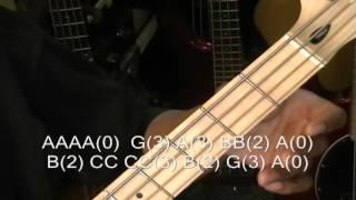 Michael Jackson SMOOTH CRIMINAL How To Play On Bass Guitar R&B