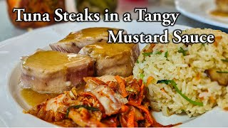 Tuna Steaks in a Tangy Mustard Sauce